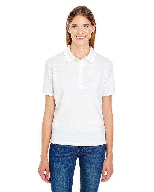 Hanes Ladies' 6.5 oz. X-Temp® Piqué Short-Sleeve Polo with Fresh IQ - White