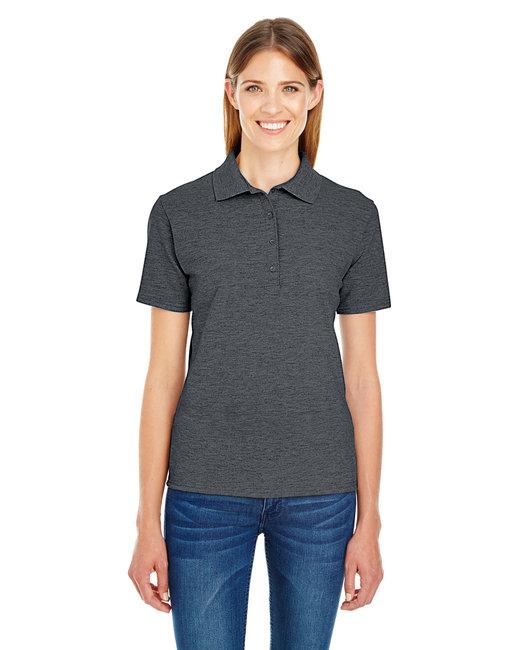 Hanes Ladies' 6.5 oz. X-Temp® Piqué Short-Sleeve Polo with Fresh IQ - Charcoal Heather