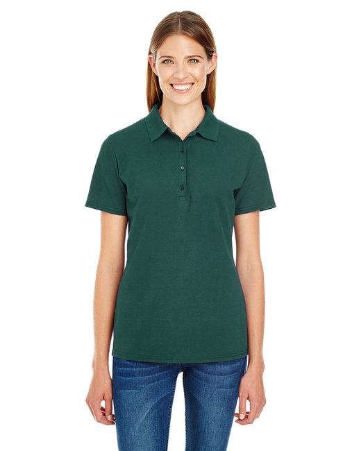 Hanes Ladies' 6.5 oz. X-Temp® Piqué Short-Sleeve Polo with Fresh IQ - Deep Forest