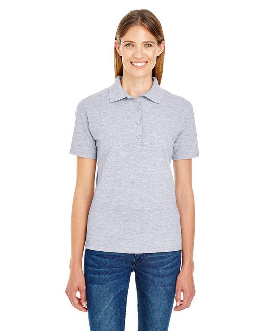 Hanes Ladies' 6.5 oz. X-Temp® Piqué Short-Sleeve Polo with Fresh IQ - Light Steel