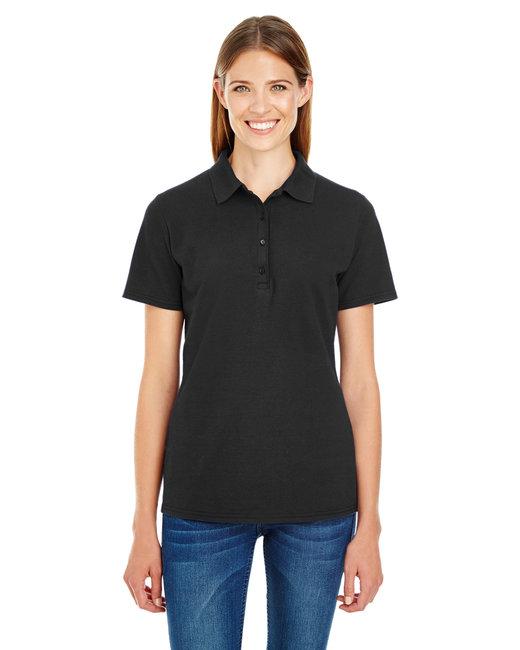 Hanes Ladies' 6.5 oz. X-Temp® Piqué Short-Sleeve Polo with Fresh IQ - Black