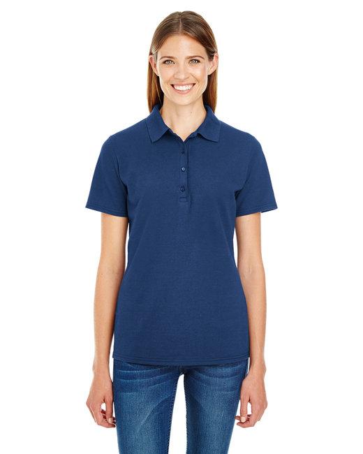 Hanes Ladies' 6.5 oz. X-Temp® Piqué Short-Sleeve Polo with Fresh IQ - Navy