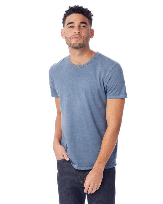 Alternative Men's Heritage Garment-Dyed Distressed T-Shirt - Dk Blue Pigmnt