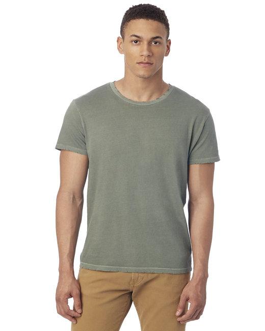 Alternative Men's Heritage Garment-Dyed Distressed T-Shirt - Green Pigment