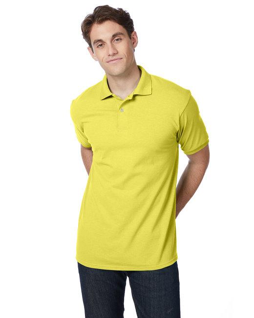 Hanes Adult 5.2 oz., 50/50 EcoSmart® Jersey Knit Polo - Yellow