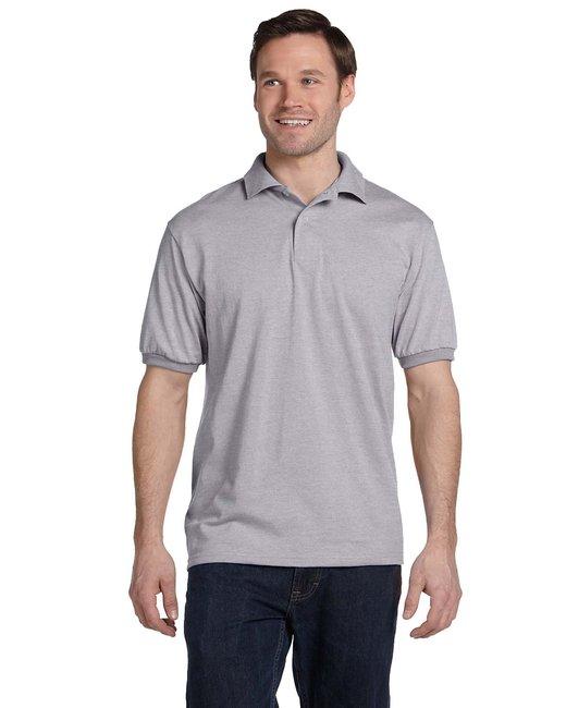 Hanes Adult 5.2 oz., 50/50 EcoSmart® Jersey Knit Polo - Light Steel