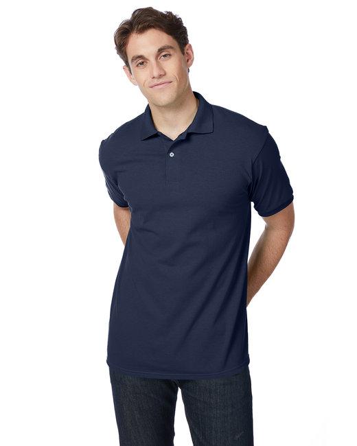 Hanes Adult 5.2 oz., 50/50 EcoSmart® Jersey Knit Polo - Navy