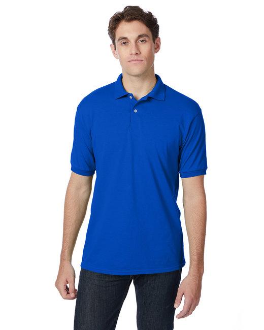 Hanes Adult 5.2 oz., 50/50 EcoSmart® Jersey Knit Polo - Deep Royal