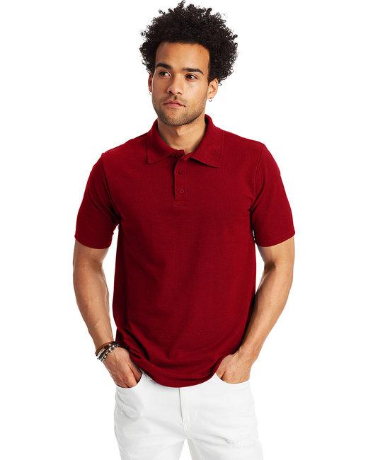 bded39a41 055P. Hanes Men s 6.5 oz. X-Temp® Piqué Short-Sleeve Polo with Fresh IQ
