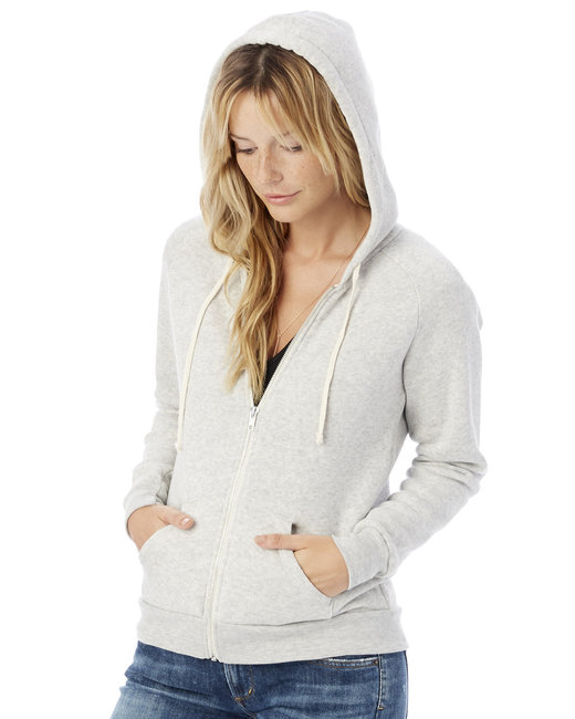 Alternative Ladies' Adrian Eco-Fleece Hoodie - Eco Light Grey