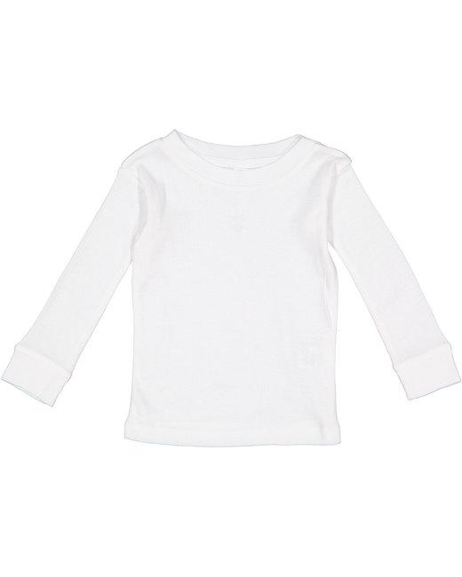 Rabbit Skins Infant Long-Sleeve Pajama Top - White