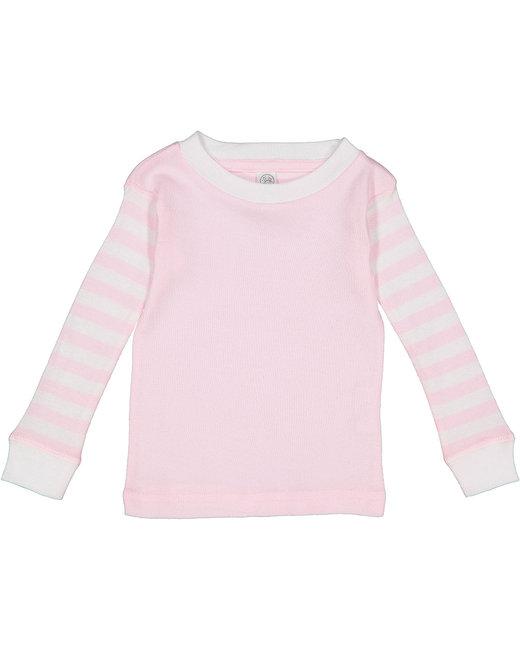 Rabbit Skins Infant Long-Sleeve Pajama Top - Blrna/ B Str/ Wh