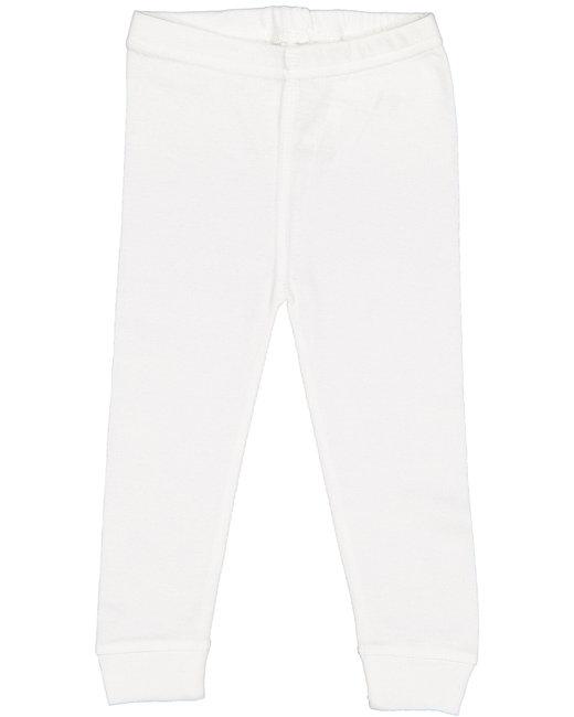 Rabbit Skins Infant Baby Rib Pajama Pant - White