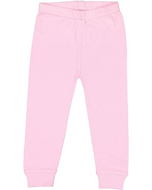 Rabbit Skins Infant Baby Rib Pajama Pant - Pink