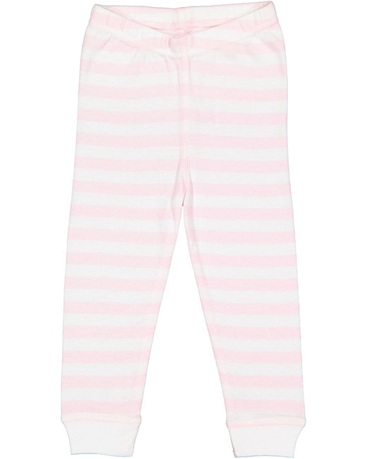 Rabbit Skins Infant Baby Rib Pajama Pant - Blrna/ W Str/ Wh