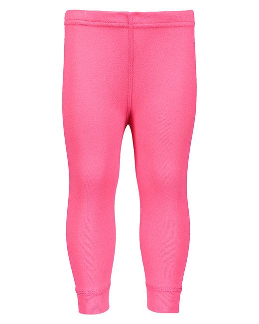 Rabbit Skins Infant Baby Rib Pajama Pant - Hot Pink