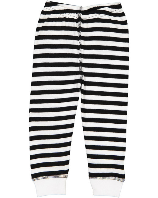 Rabbit Skins Infant Baby Rib Pajama Pant - Blk Wh Strp/ Wht