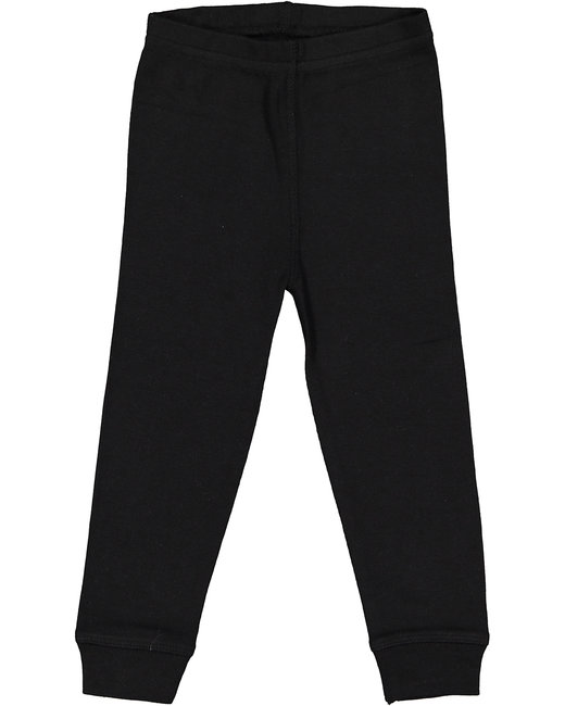 Rabbit Skins Infant Baby Rib Pajama Pant - Black