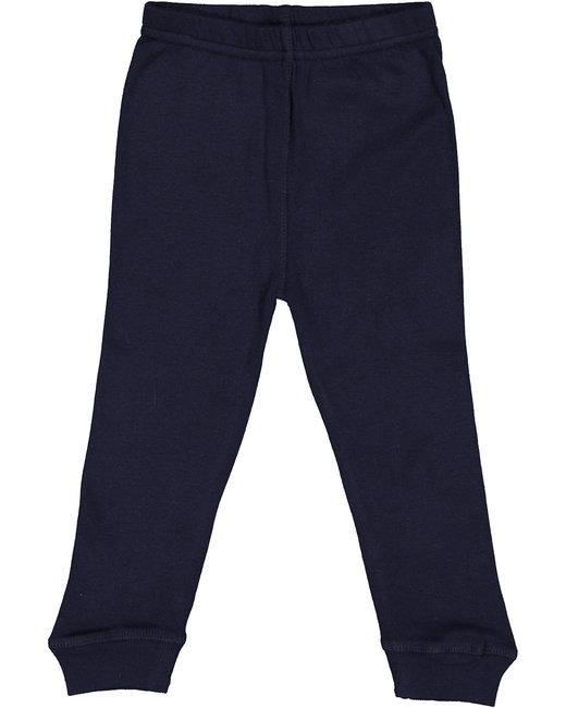 Rabbit Skins Infant Baby Rib Pajama Pant - Navy