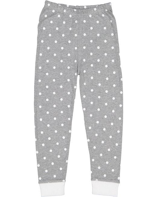 Rabbit Skins Infant Baby Rib Pajama Pant - Hthr Wht Dt/ Wht