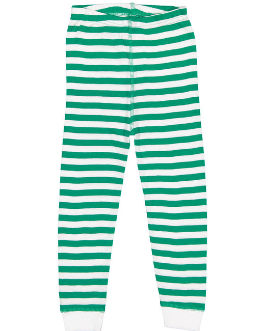 Rabbit Skins Infant Baby Rib Pajama Pant - Klly Wh Str/ Wht