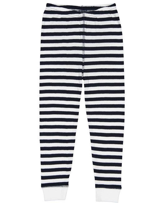 Rabbit Skins Infant Baby Rib Pajama Pant - Nvy Wht Str/ Wht