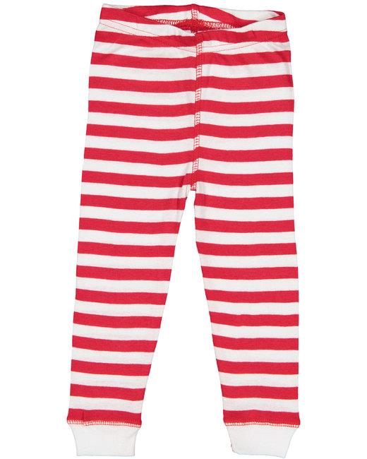 Rabbit Skins Infant Baby Rib Pajama Pant - Red Wht Str/ Wht