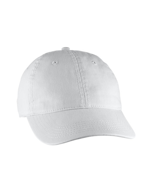 Comfort Colors Direct-Dyed Canvas Baseball Cap - White