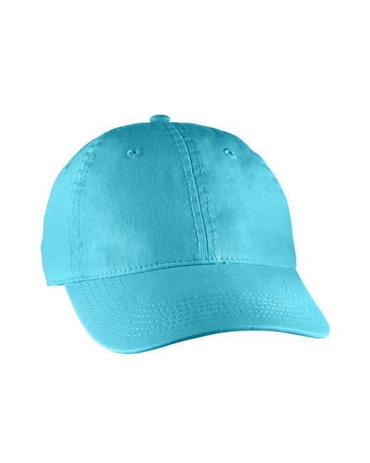 Comfort Colors Direct-Dyed Canvas Baseball Cap - Lagoon Blue
