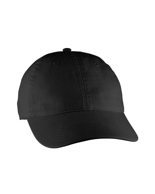 Comfort Colors Direct-Dyed Canvas Baseball Cap - Black