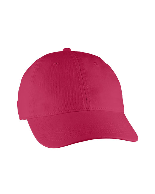 Comfort Colors Direct-Dyed Canvas Baseball Cap - Red