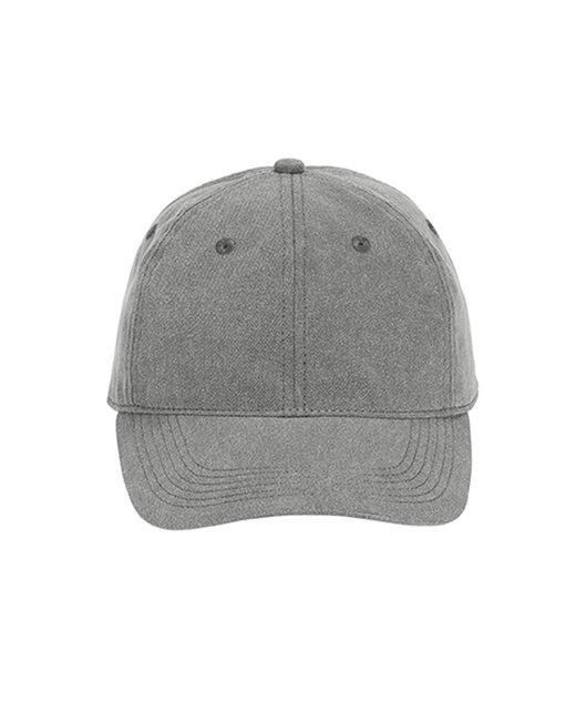 Comfort Colors Pigment-Dyed Canvas Baseball Cap - Grey