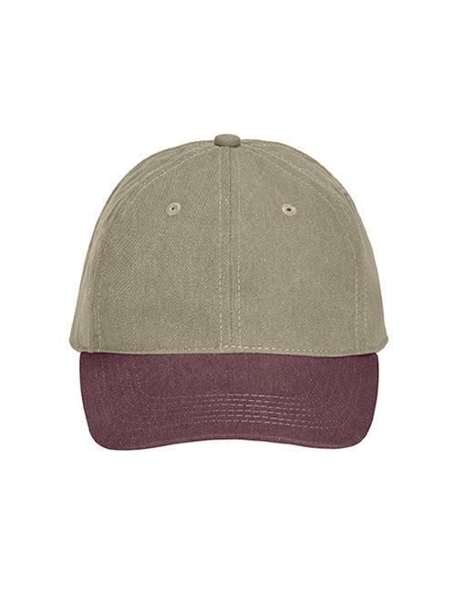 Comfort Colors Pigment-Dyed Canvas Baseball Cap - Khaki/ Vineyard