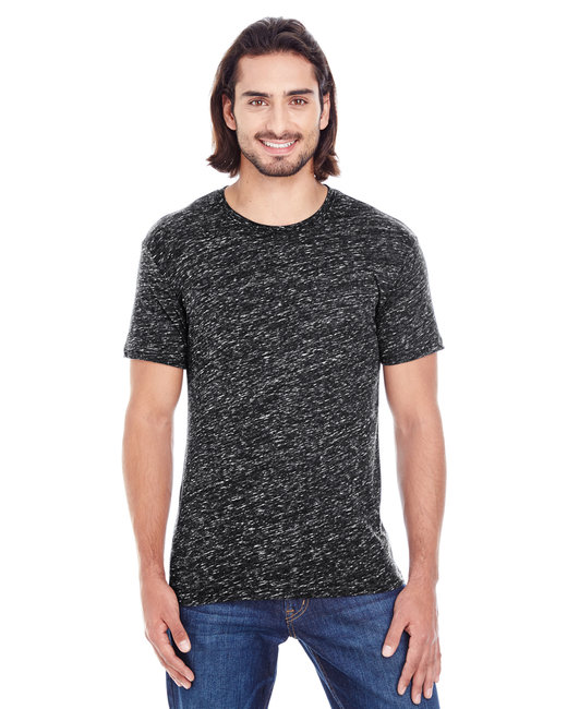 Threadfast Apparel Men's Blizzard Jersey Short-Sleeve T-Shirt - Black Blizzard