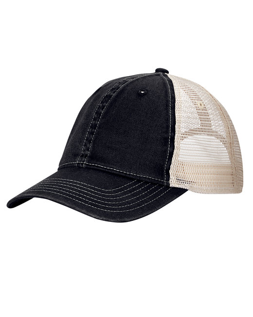 Comfort Colors Unstructured Trucker Cap - Black/ Ivory