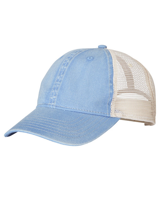 Comfort Colors Unstructured Trucker Cap - Washd Dnm/ Ivory