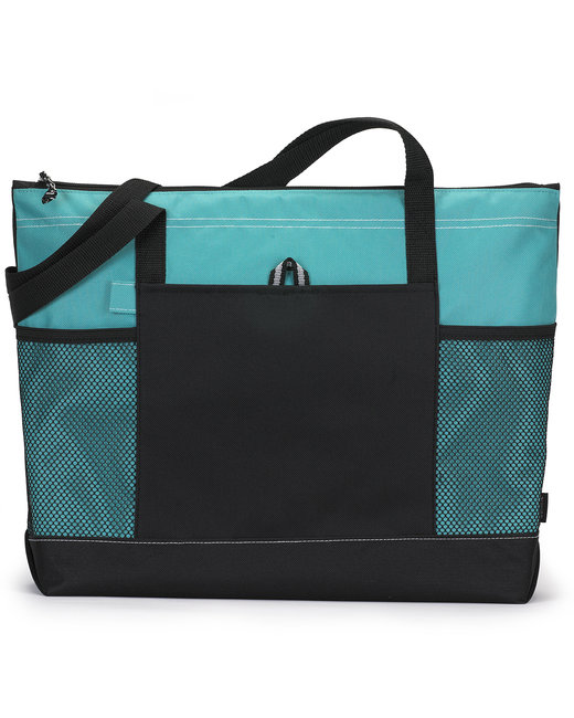 Gemline Select Zippered Tote - Turquoise