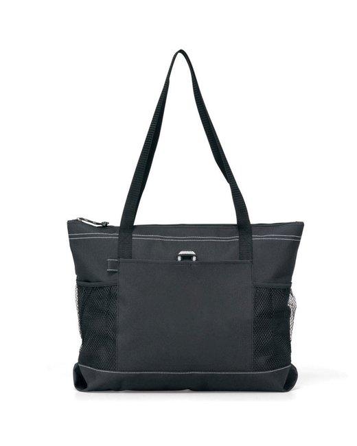 Gemline Select Zippered Tote - Black