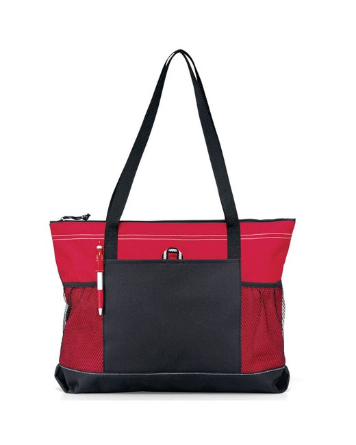 Gemline Select Zippered Tote - Red