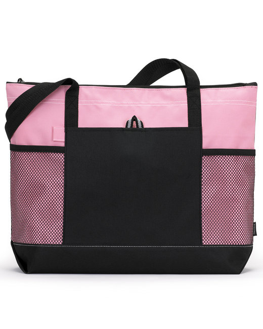 Gemline Select Zippered Tote - Peony Pink