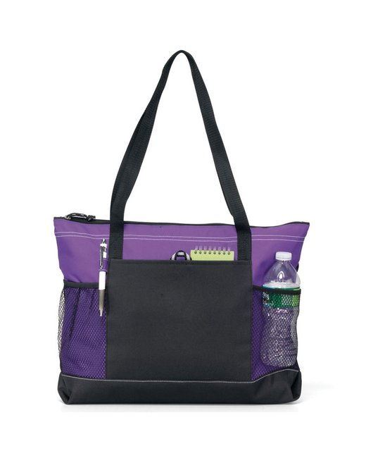 Gemline Select Zippered Tote - Purple
