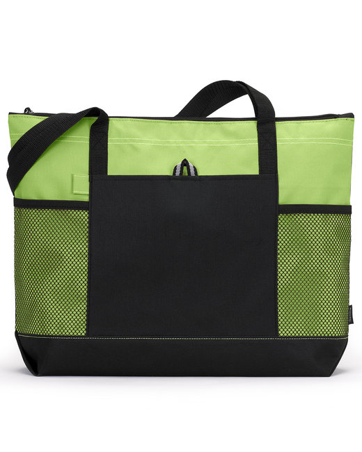 Gemline Select Zippered Tote - Apple Green