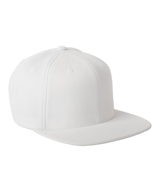 Flexfit Adult Wool Blend Snapback Cap - White