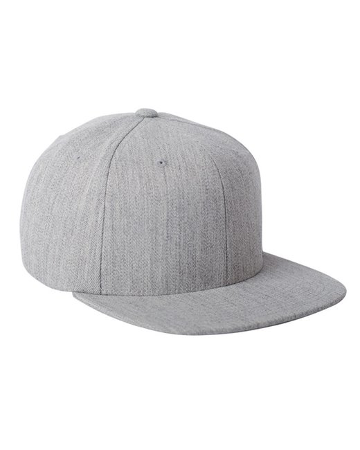 Flexfit Adult Wool Blend Snapback Cap - Heather Grey