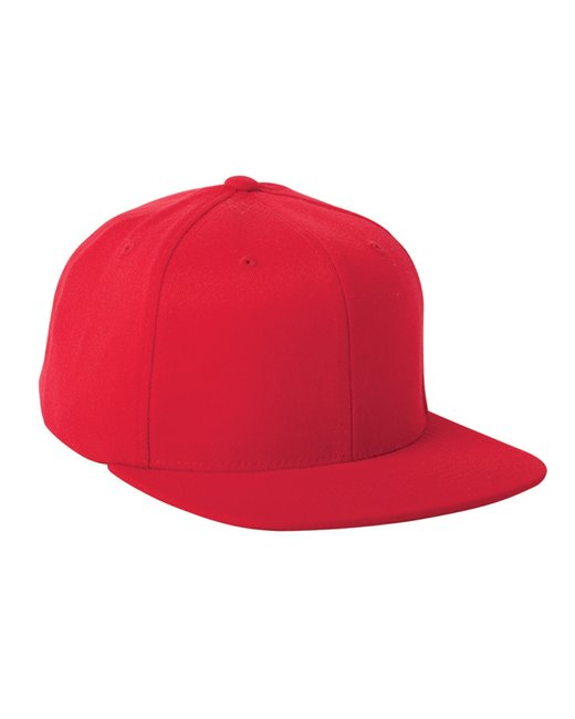Flexfit Adult Wool Blend Snapback Cap - Red