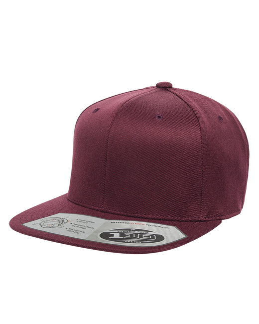 Flexfit Adult Wool Blend Snapback Cap - Maroon