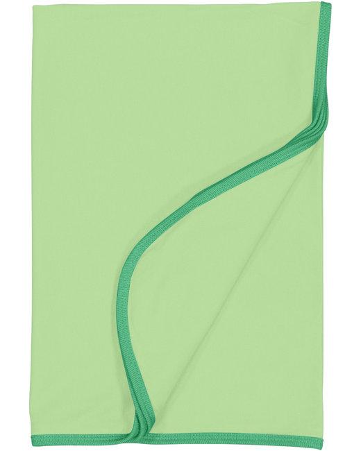 Rabbit Skins Infant Premium Jersey Blanket - Mint/ Grass