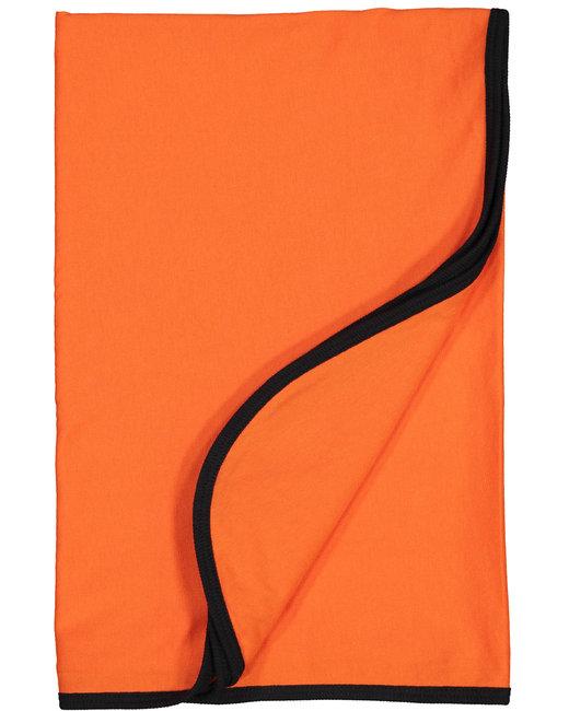 Rabbit Skins Infant Premium Jersey Blanket - Orange/ Black