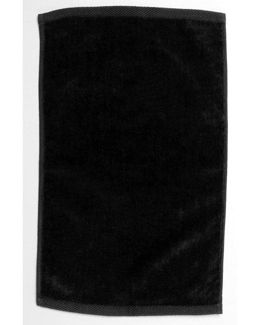 Pro Towels Velour Fingertip Sport Towel - Black
