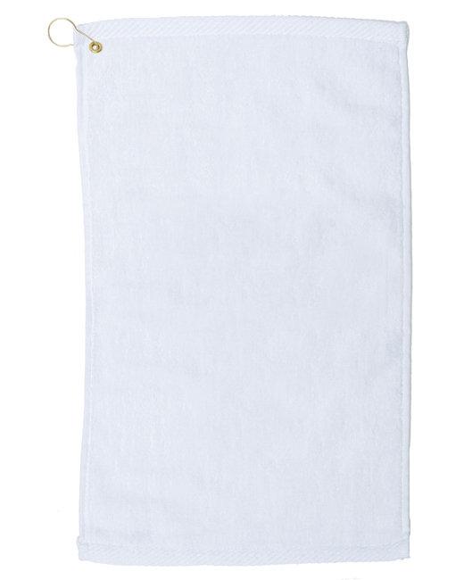 Pro Towels Velour Fingertip Golf Towel - White